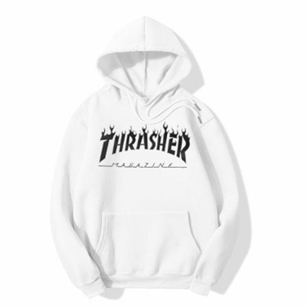 Thrasher Magazine White hoodie