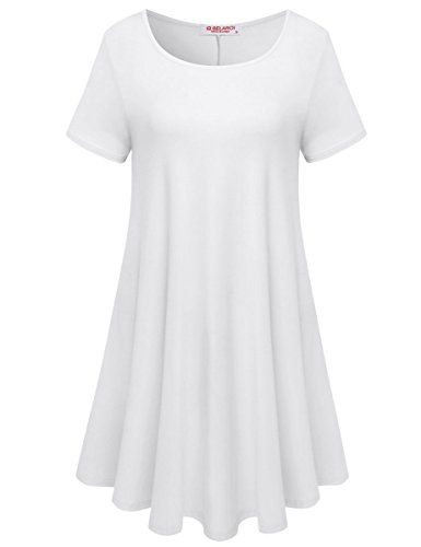 b5396980a8 BELAROI Womens Comfy Swing Tunic Short Sleeve Solid T-shirt Dress at Amazon  Women's Clothing store: