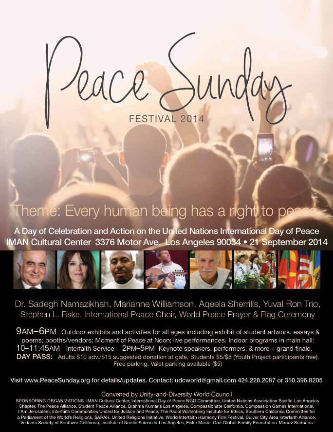 Join @mariannewilliamson in #LosAngeles for  a peaceful Sunday.
