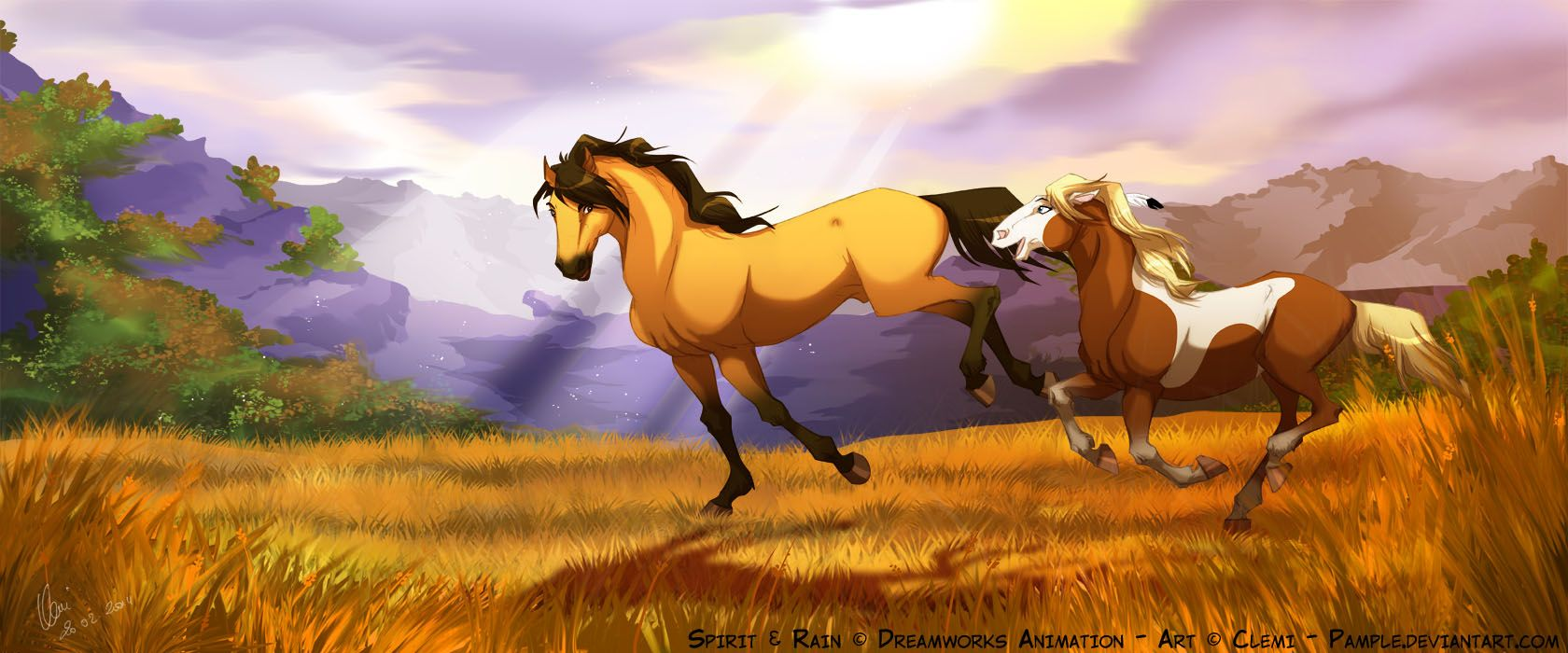 Don T Let Go By Pample On Deviantart Spirit Horse Movie Spirit The Horse Spirit And Rain