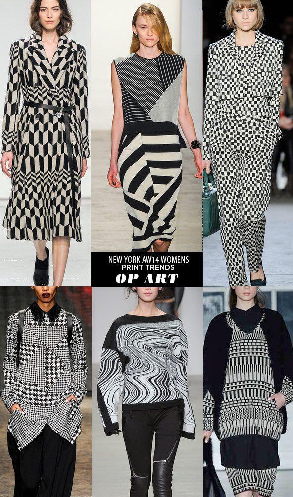 pattern people AW14 Womens Print Trends NY OP ART Runway ...