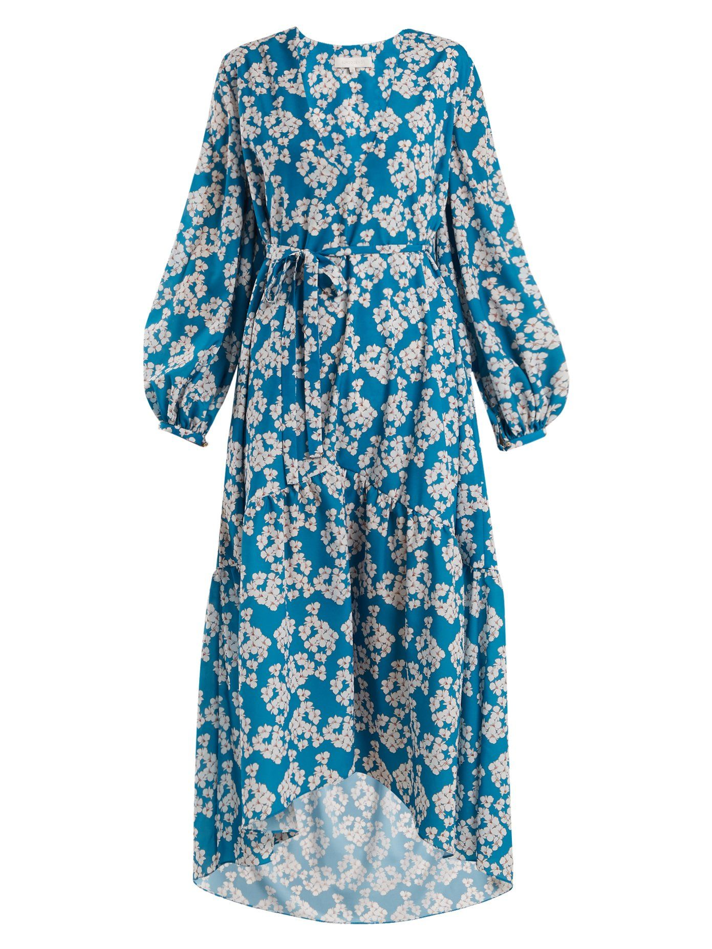 Beatrice Bouquet-print crepe dress Borgo De Nor