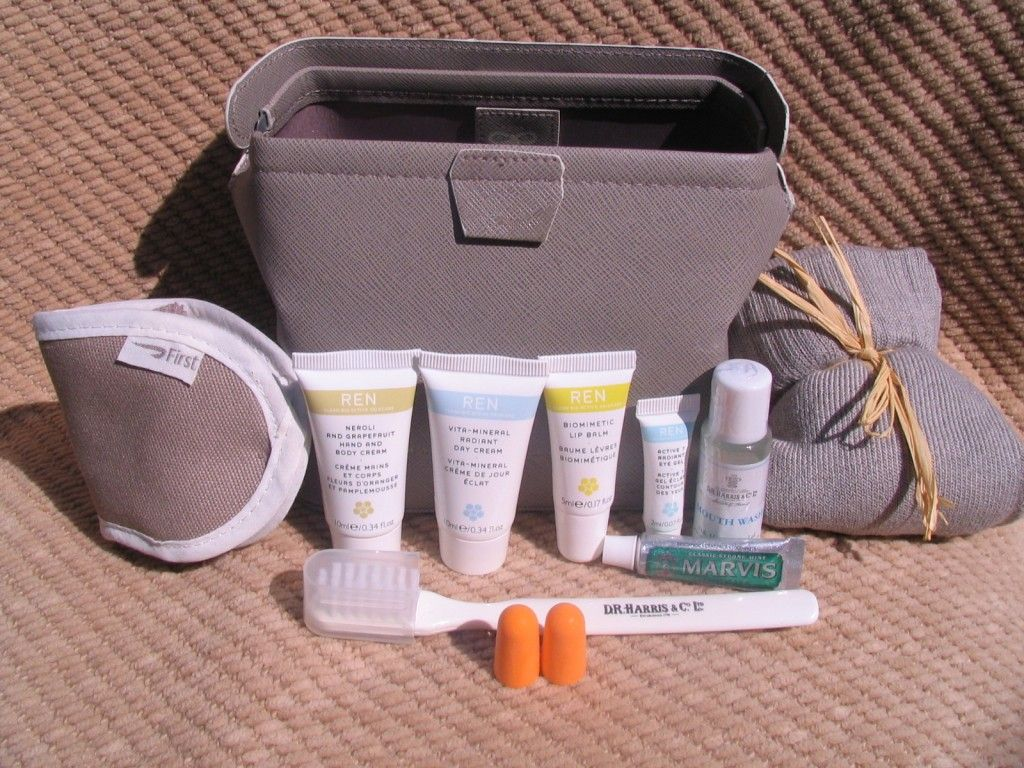 Amenity Kit Review British Airways First Class details