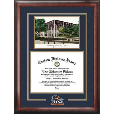 Campus Images NCAA Spirit Graduate Diploma Picture Frame NCAA Team: Texas, San Antonio Roadrunners