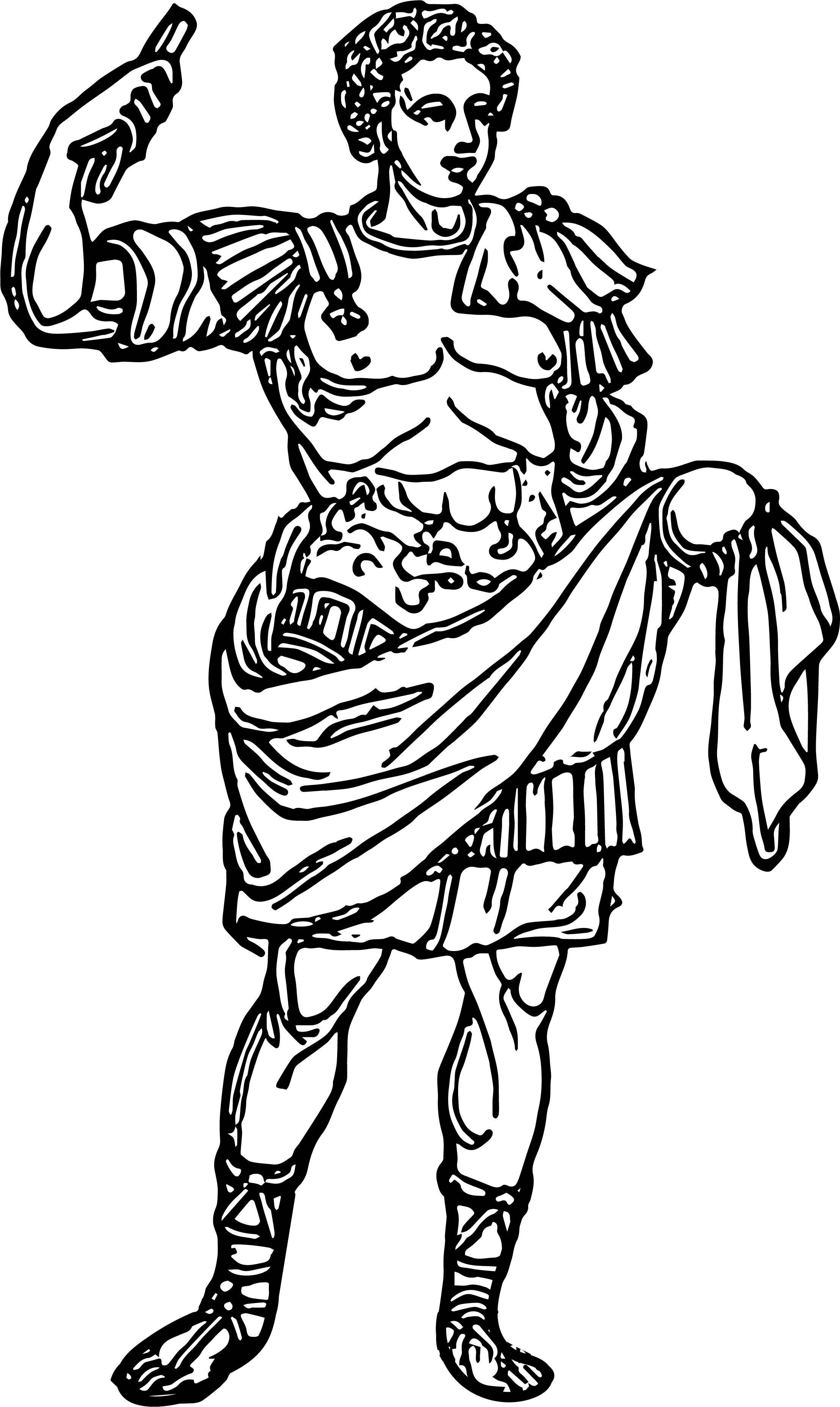 Cool Roman Emperor Man Coloring Page Wecoloringpage