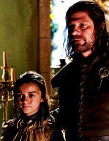 Arya & Ned - arya-stark Fan Art