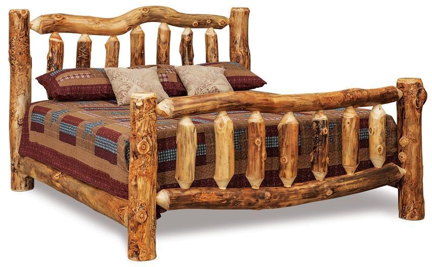 Amish Rustic Log Bed Log Bed Log Bedroom Sets Bedroom Sets Queen