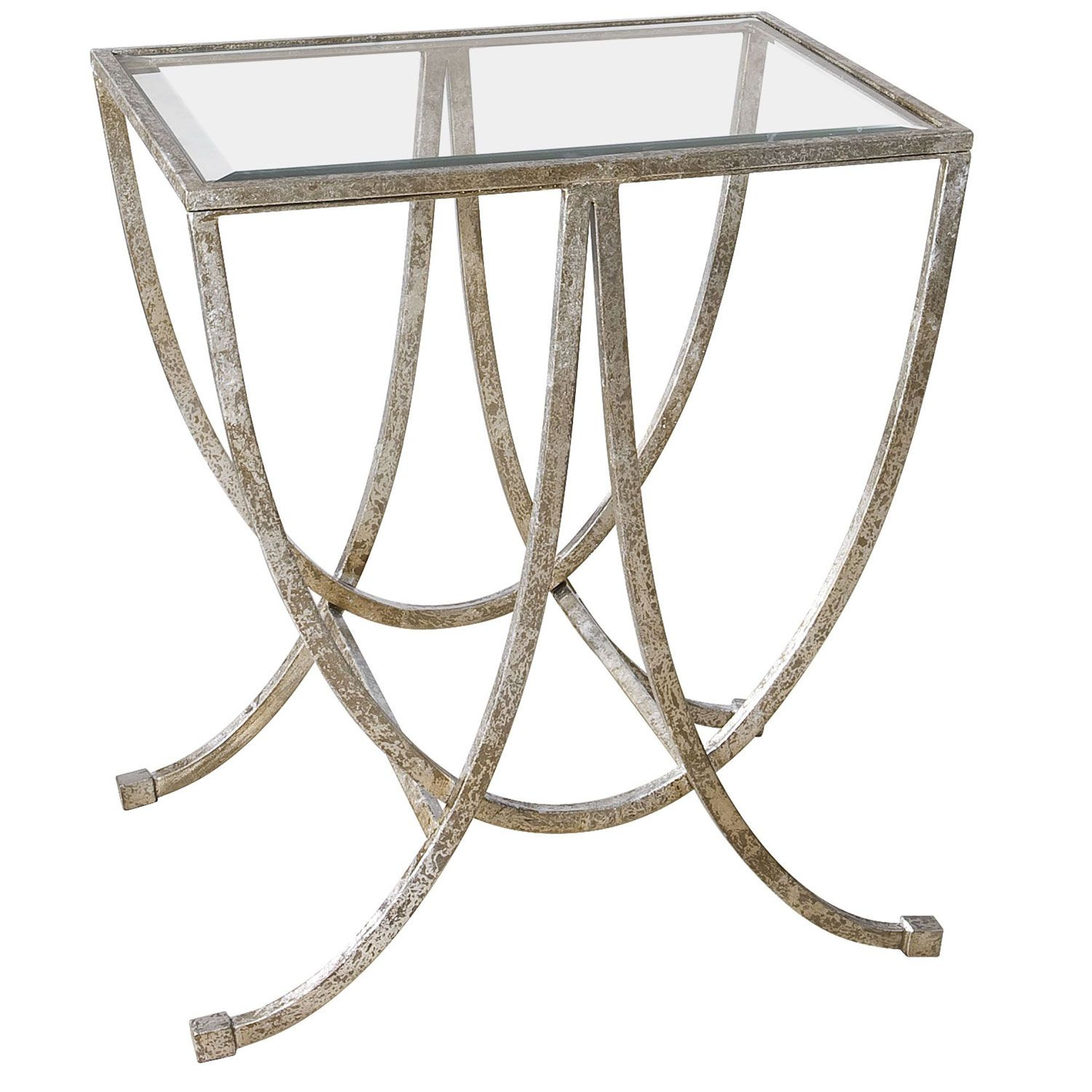 Uttermost marta antique silver side table foyers coffee uttermost marta antique silver side table geotapseo Image collections