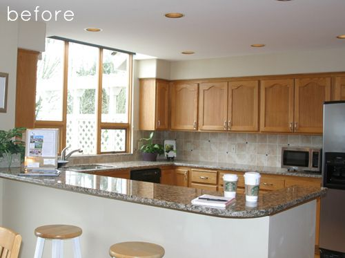 explore kitchen makeovers kitchen renovations and more  for upstairs kitchen  remove top cabinet doors and paint all white      rh   pinterest com