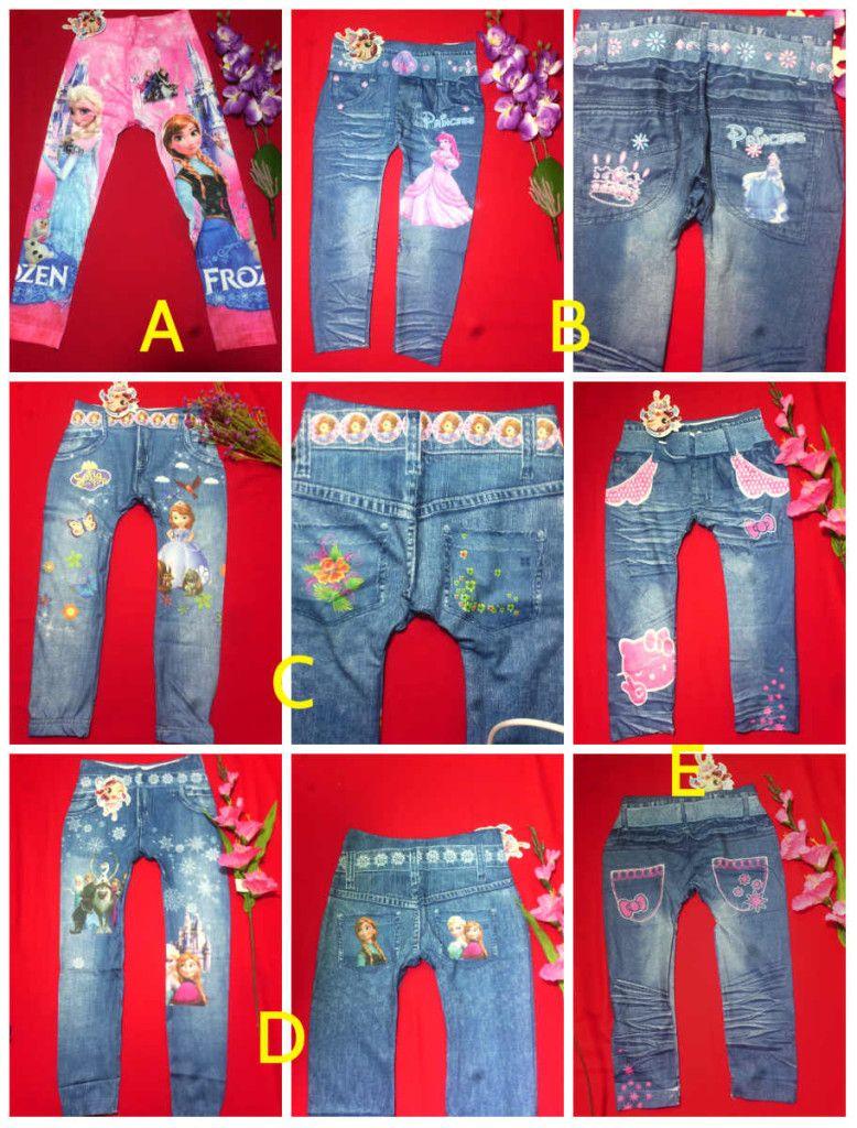 Jual Legging Anak Perempuan Motif Jeans Frozen Hellokitty Sofia Princess Umur 3 4 5 6 7 Tahun Keikidscorner Baju Anak Anak Perempuan Model Pakaian Anak Anak