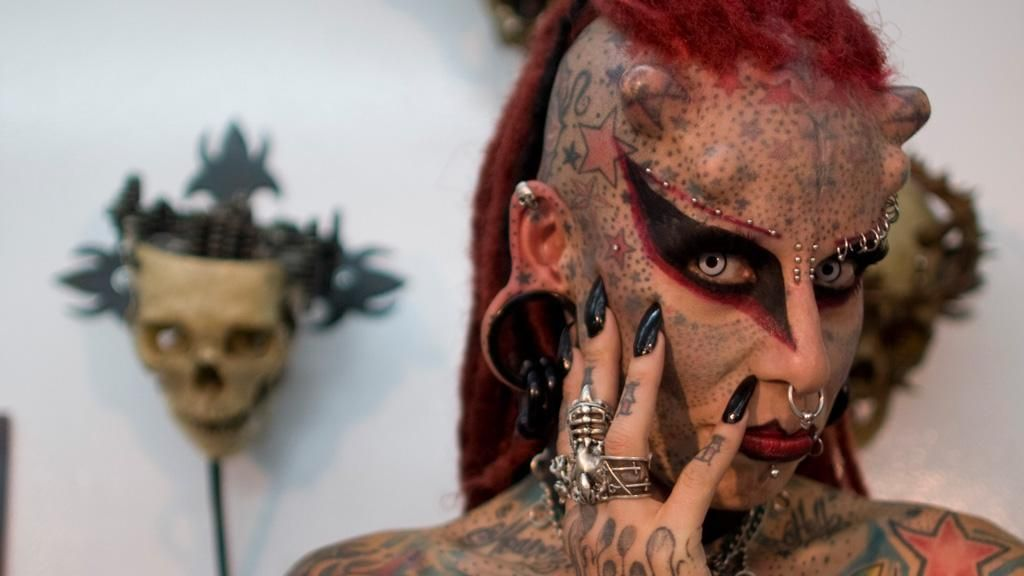 Real Devil Face | Maria Jose Cristerna, a Mexican tattoo artist said she started to ...