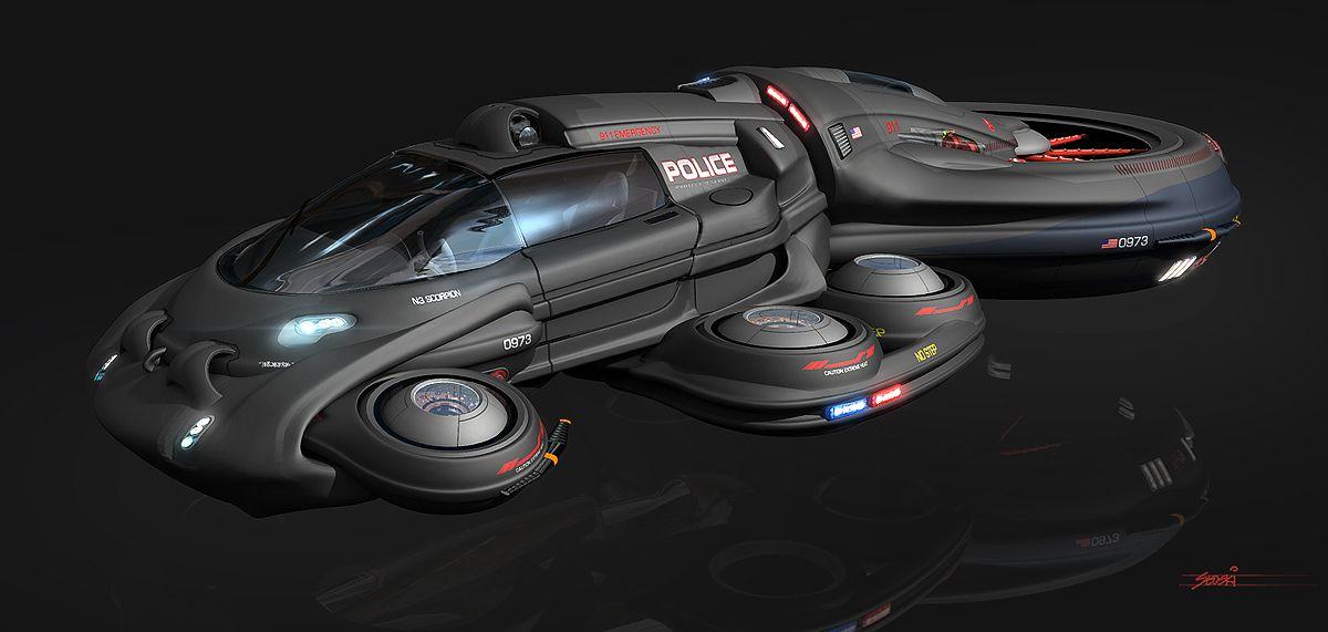 Chris Stoski Police Cruiser Concept Vehicle Shadowrun