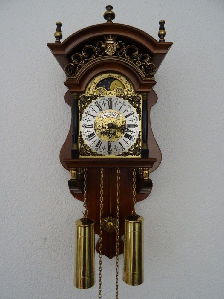 Warmink Wuba Dutch Vintage Moonphase Sallander Wall Clock