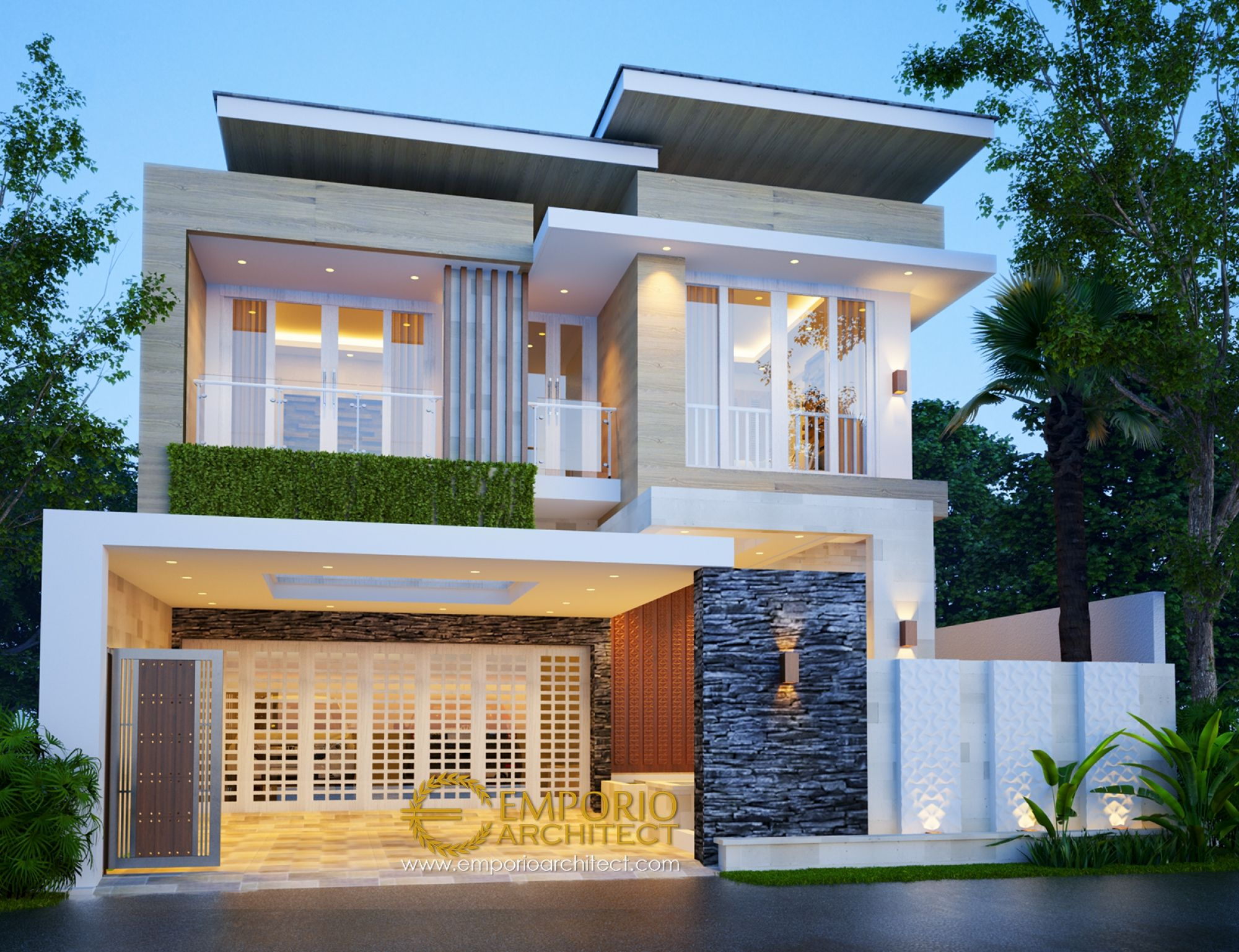 Desain Rumah Villa Minimalis Modern Cek Bahan Bangunan