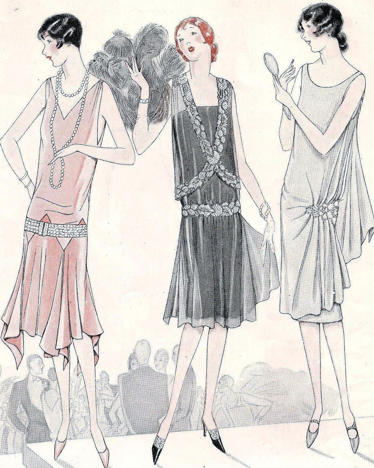 Vintagefashionandbeauty Flapper Fashion Fashion Art Illustration Art Deco Fashion Fashion Illustration