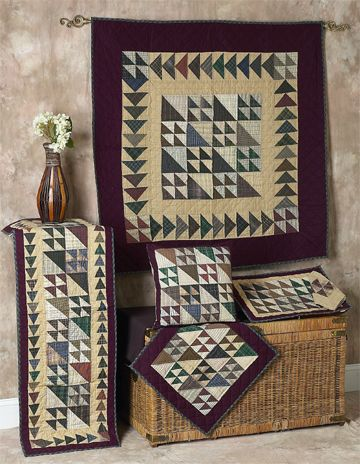 Flying Geese Quilts | Choices Quilts offers Flying Geese Quilts handmade for you! You can shop online or call us toll-free @ 1-800-572-2070 or 770-641-9700.