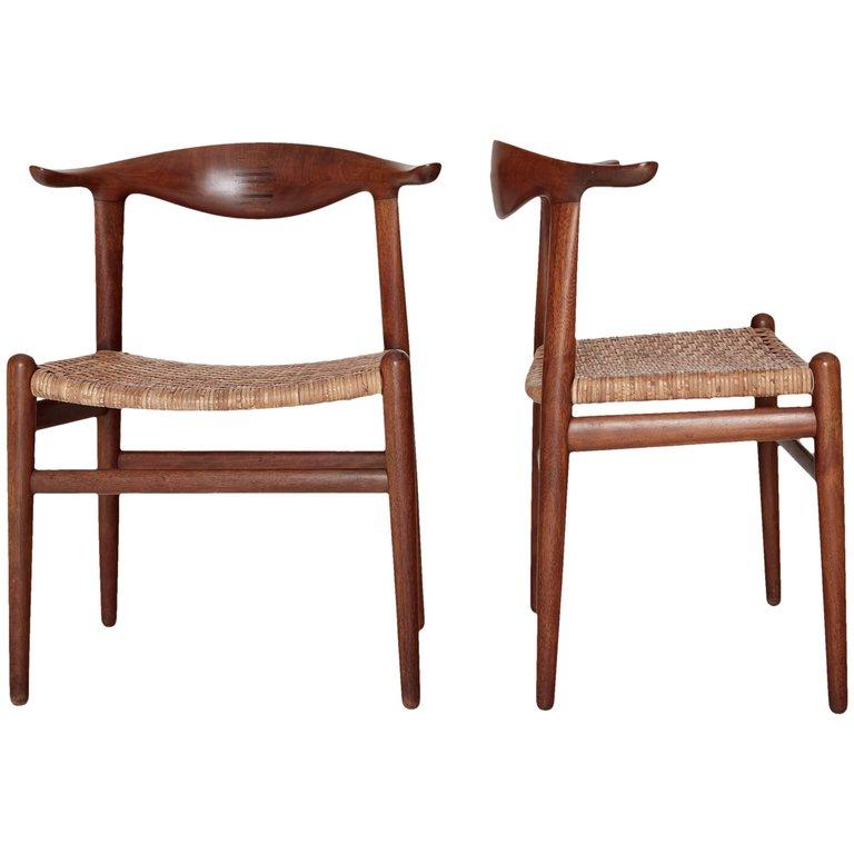 Hans Wegner Cow Horn Chairs Model Jh 505 Johannes Hansen