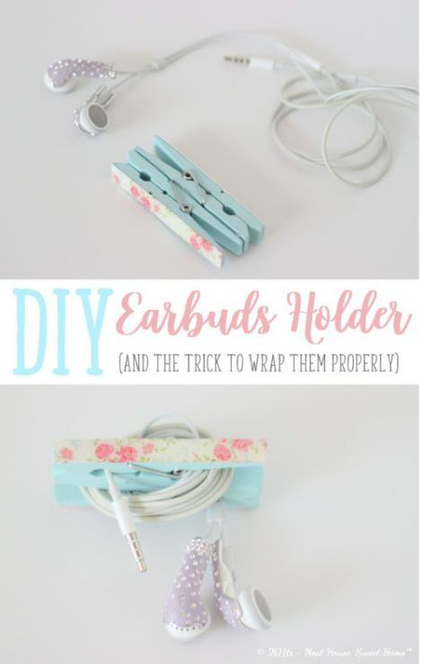 Diy Earbuds Holder Pinspired Friday Neat House Sweet Home