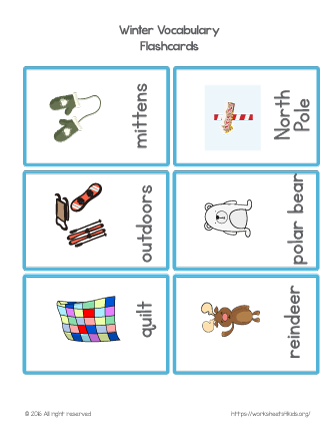 Figurative Language Worksheets 6th Grade Word Winter Vocabulary Flash Cards Set  Winter And Christmas  Esl Library Grammar Practice Worksheets Pdf with Vertebrate Invertebrate Worksheet Excel Winter Vocabulary Flash Cards Set  Winter And Christmas Vocabulary  Worksheet To Learn New Words This Holiday With Your Children Ecosystem Worksheets Excel