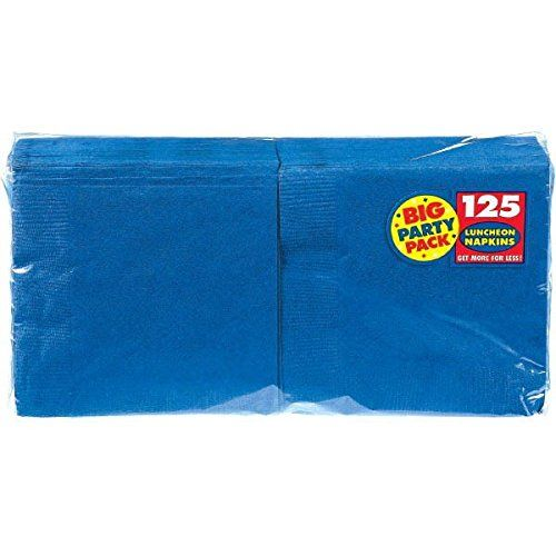 Big Party Pack Luncheon Napkins 13 in x 13 in  125Pkg Bright Royal Blue *** More info could be found at the image url.