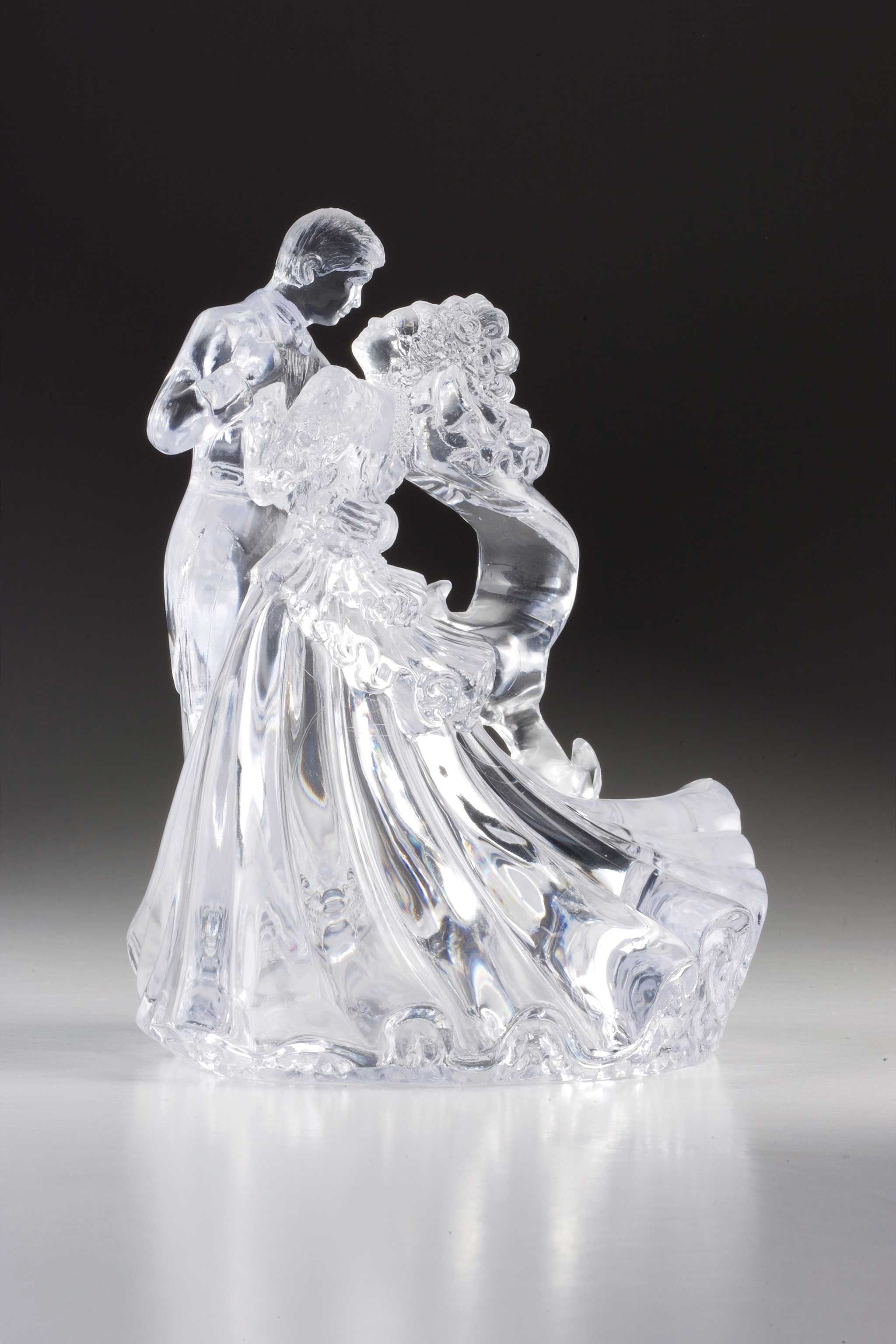 Bride and Groom bianca crystal set