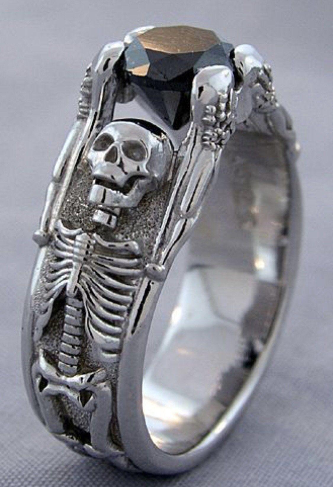 K black diamond skeleton engagement ring black diamonds