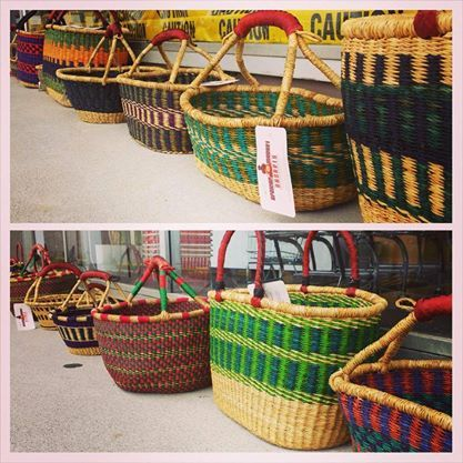 Beautiful, Fair trade, Handmade in Ghana, these baskets are perfect for everyone! A portion of the basket sales go to help fund schools and hospitals in Ghana. No two look alike, Every one is unique!
