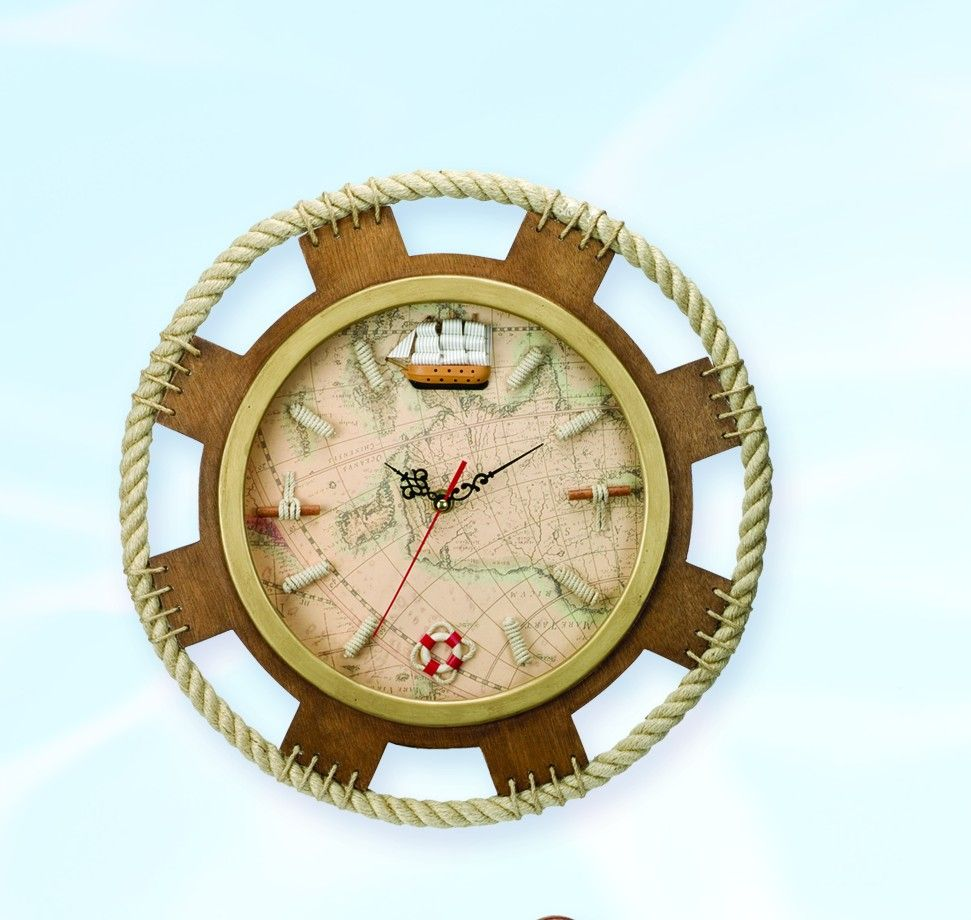 Nautical Gifts For The Home - Map and lanyard clock nautical clocks