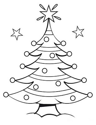 Free Coloring Pages Christmas Tree Coloring Pages Free