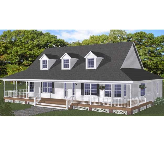 One story white farm house future home in 2018 for One level farmhouse house plans