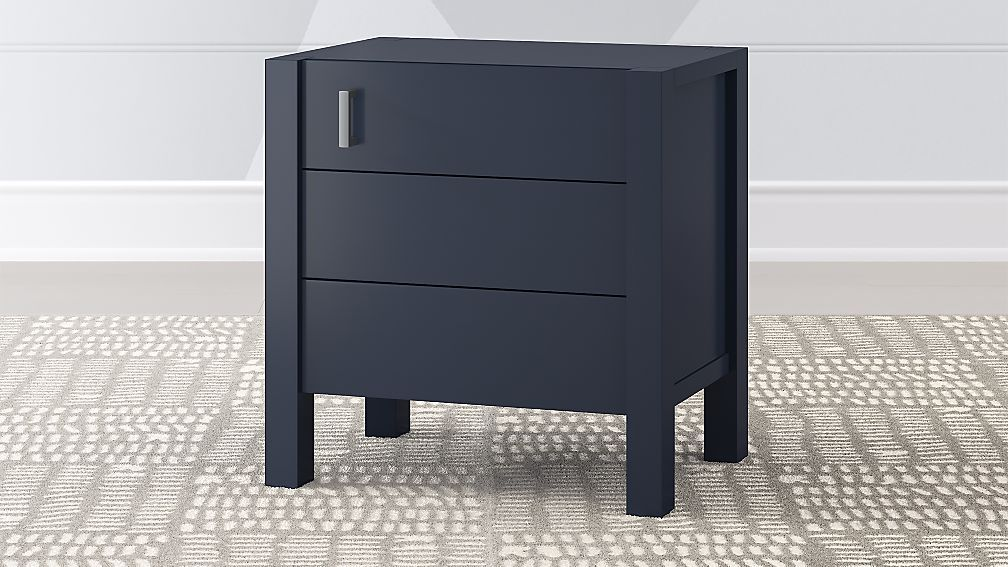 Exceptionnel Kids Nightstands U0026 Bedside Tables | Crate And Barrel Blue Nightstands,  Solid Oak, Filing