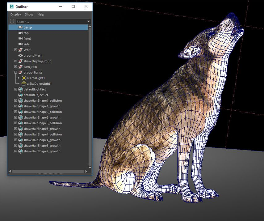 How To Make A 3d Wolf Howl At The Moon In Maya The Maya Blog Area By Autodesk Wolf Howling Howl At The Moon Colorful Backgrounds