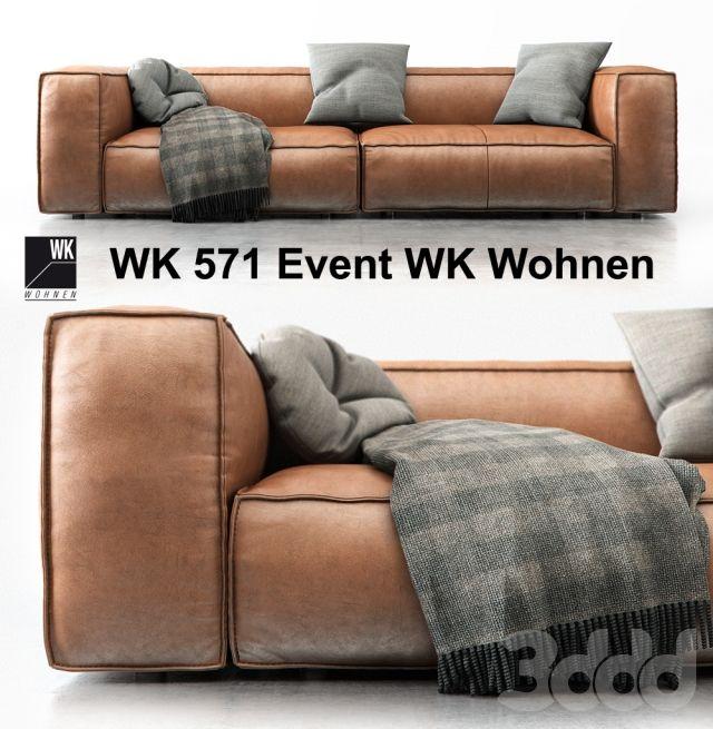 3d модели: Диваны   WK 571 Event WK Wohnen