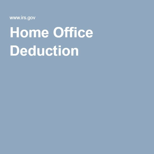 Home Office, Deduction, Office