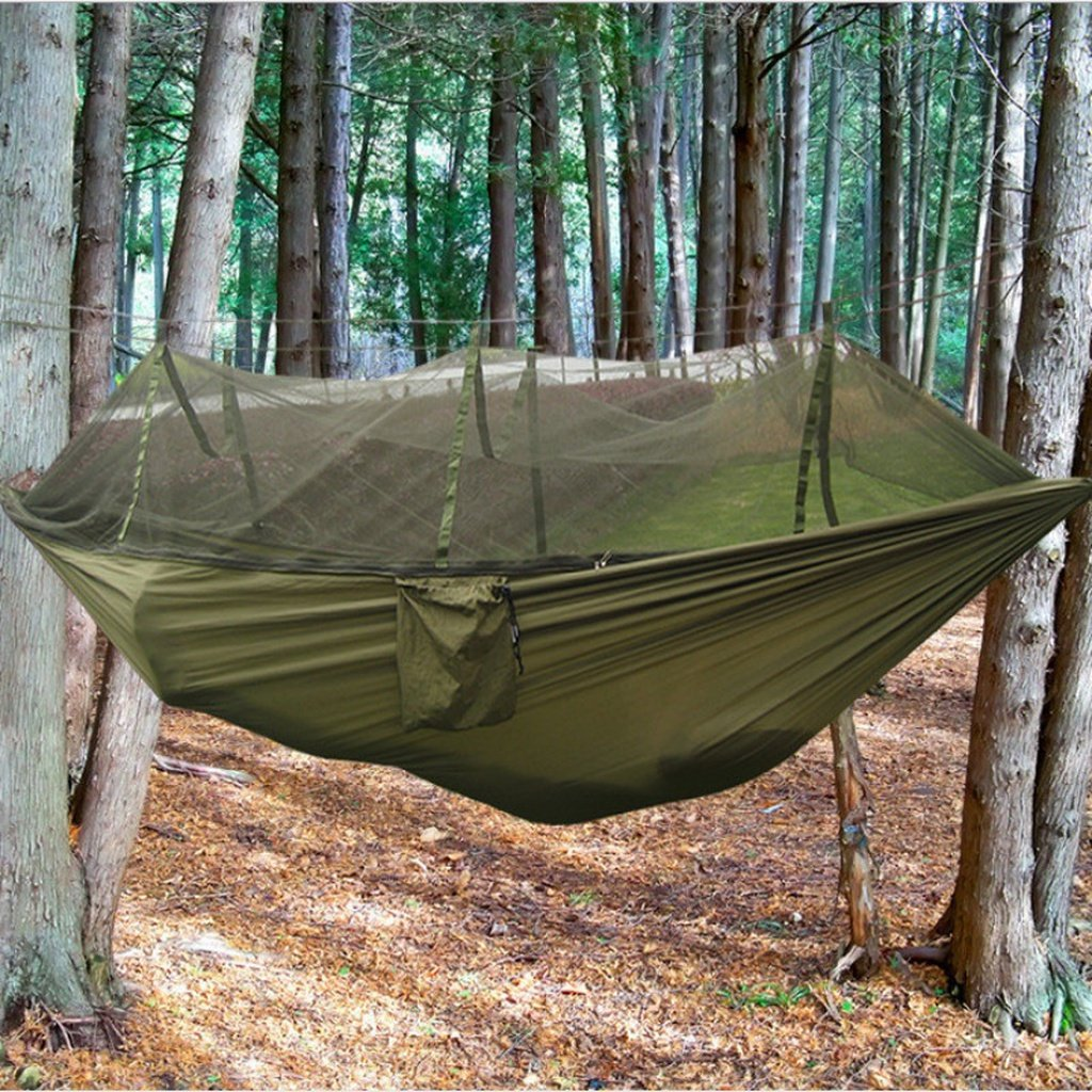 Camping mosquito nets hammocks portable lightweight parachute nylon