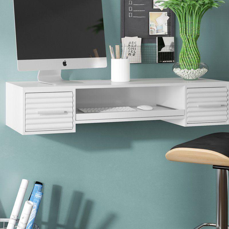Bennie 2 Drawer Floating Desk Floating Desk Furniture