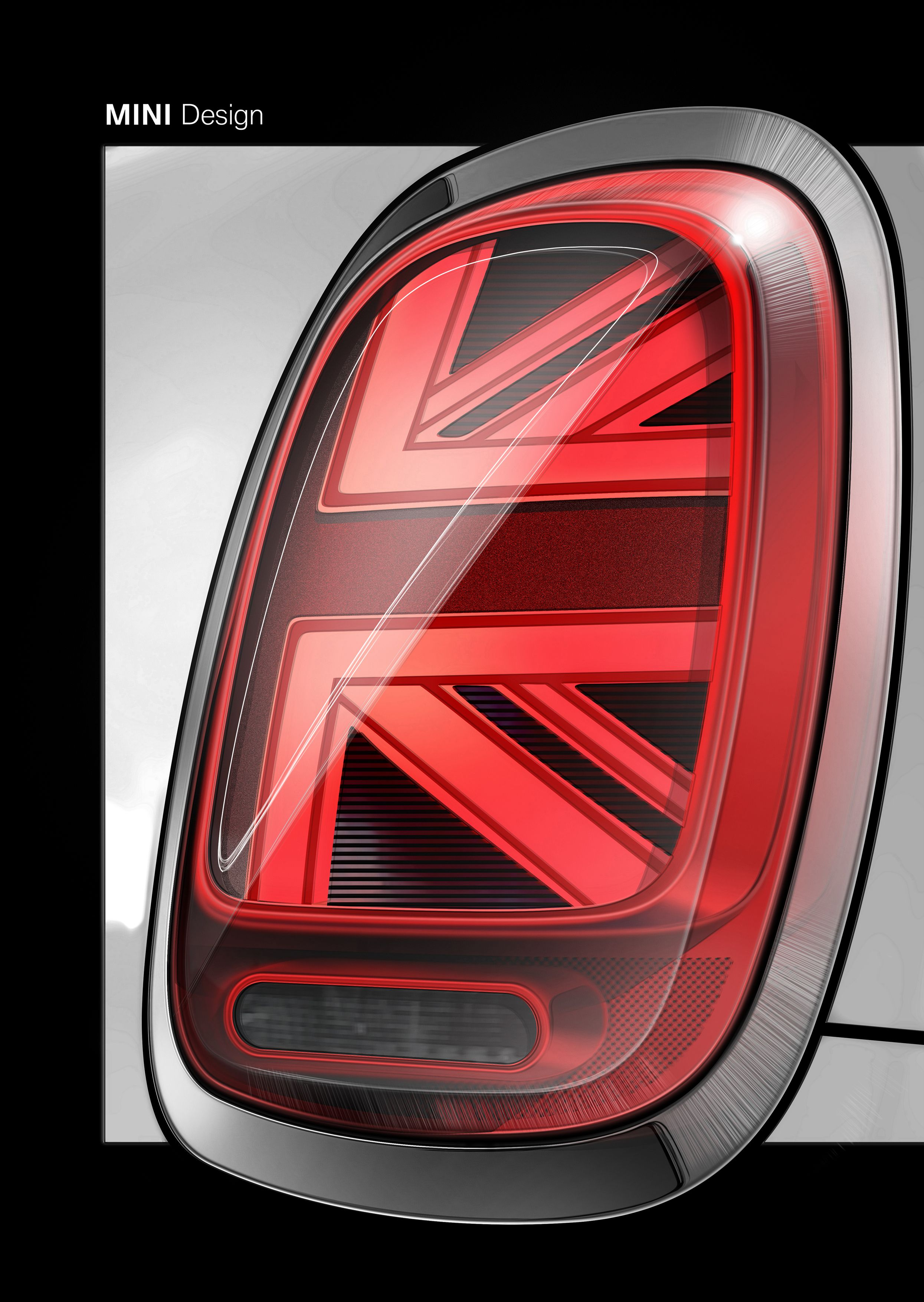 The New Mini 3 Door 5 Convertible Sketch Design Tail Light 01 2018