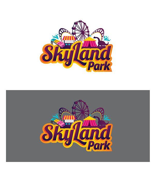 Skyland Park Logo On Behance Graphic Design Logo Event Logo Logo Design