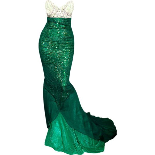 edited by Satinee - Mermaid Gown ❤ liked on Polyvore featuring dresses, gowns, long dresses, vestidos, mermaid dress and mermaid gown