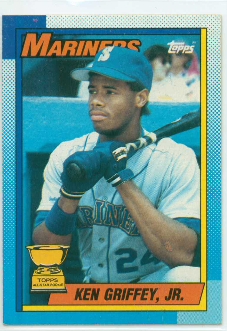 41d1ac84e5 Valuable Ken Griffey Jr. Cards | Ken Griffey Jr rookie card is the Topps  All Star rookie baseball card .