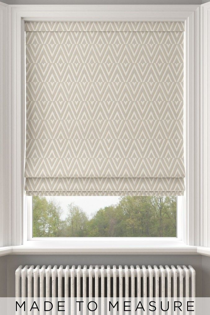 Next Nina Ochre Yellow Made To Measure Roman Blind Yellow In