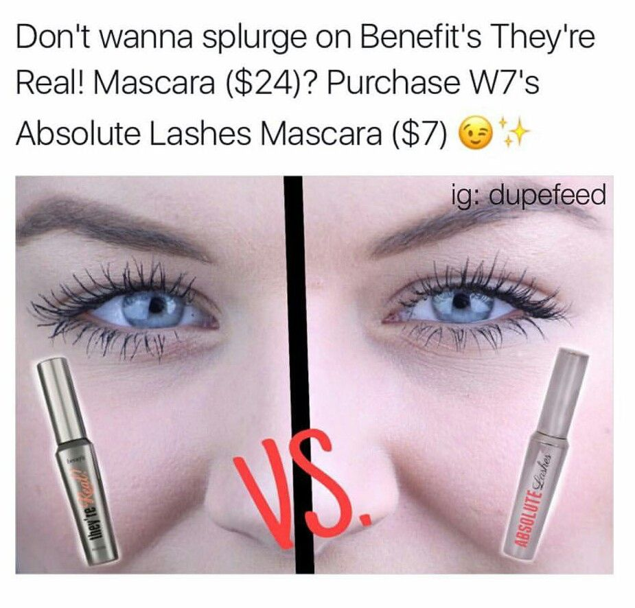e66606d448f Benefit They're Real Mascara dupe = W7 Absolute Lashes | Dupe a loop ...