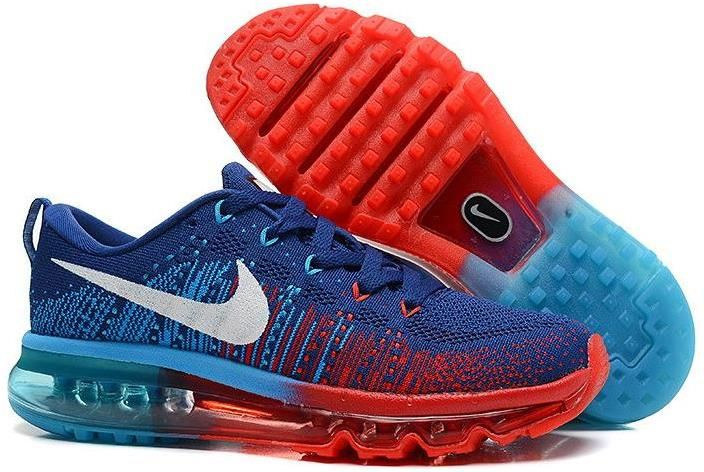 best service 11919 d779b Nike Flyknit Air Max Dark Blue Red Blue