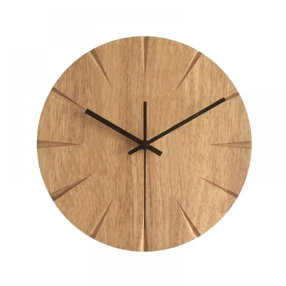 12 Inch Silent Wood Wall Clock Simple Modern Design Wooden Clocks For Bedroom Wood Wall Watch Home Decor Wall Clock Simple Wall Clock Design Wooden Clock