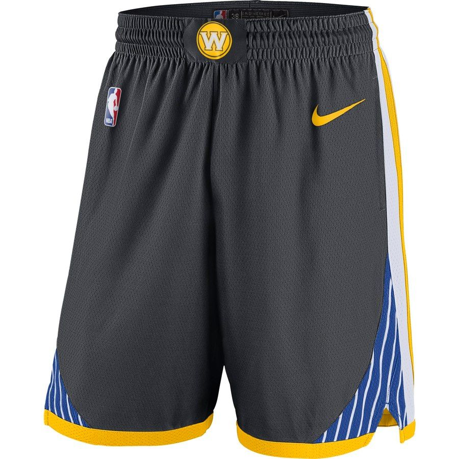 fed7f31c1c2e Men s Golden State Warriors Nike Gray 2018 19 Statement Edition Swingman  Shorts