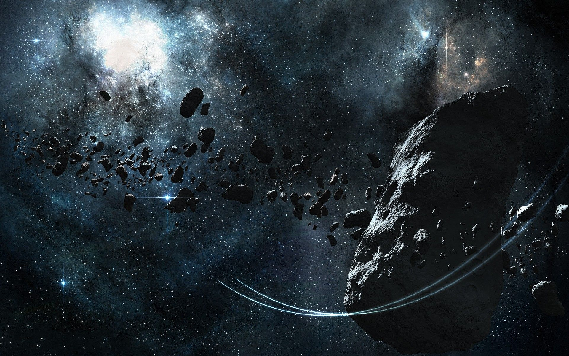 asteroid in space blowing up - photo #25