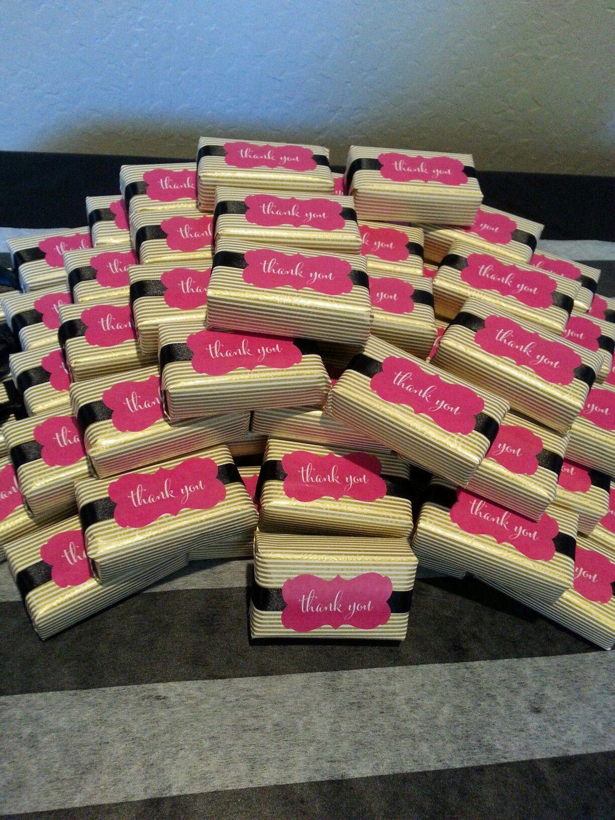 kate spade theme bridal shower party favors soap
