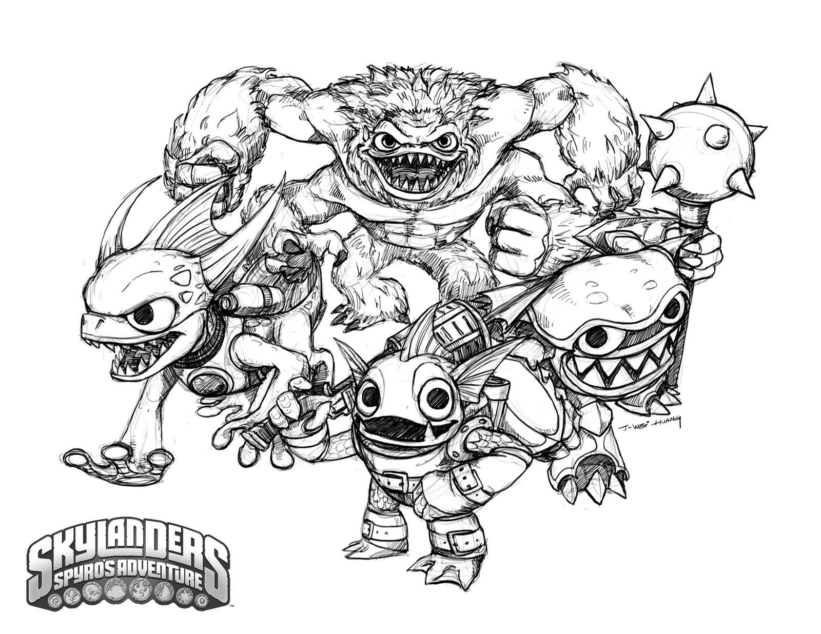 Ka Boom Comes From Skylanders Trap Team More Skylanders Coloring Sheets On Hellokids Com Dragon Coloring Page Coloring Pages Turtle Coloring Pages