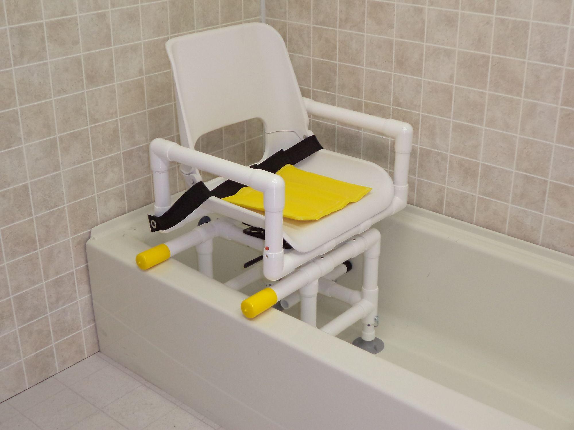 The ICC Swivel Bath Chair has an ergonomic seat that rotates 360