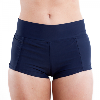 Foldover Boy Short in Navy #popina